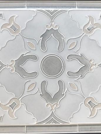 FLOWER MOSAIC - Great back splash choice. Needs no sealing!*Exclusively through Martha's Vineyard Tile Company