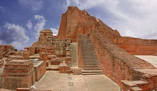 Destruction of Nalanda University by Bakhtiyar Khilji - Ruins.jpg