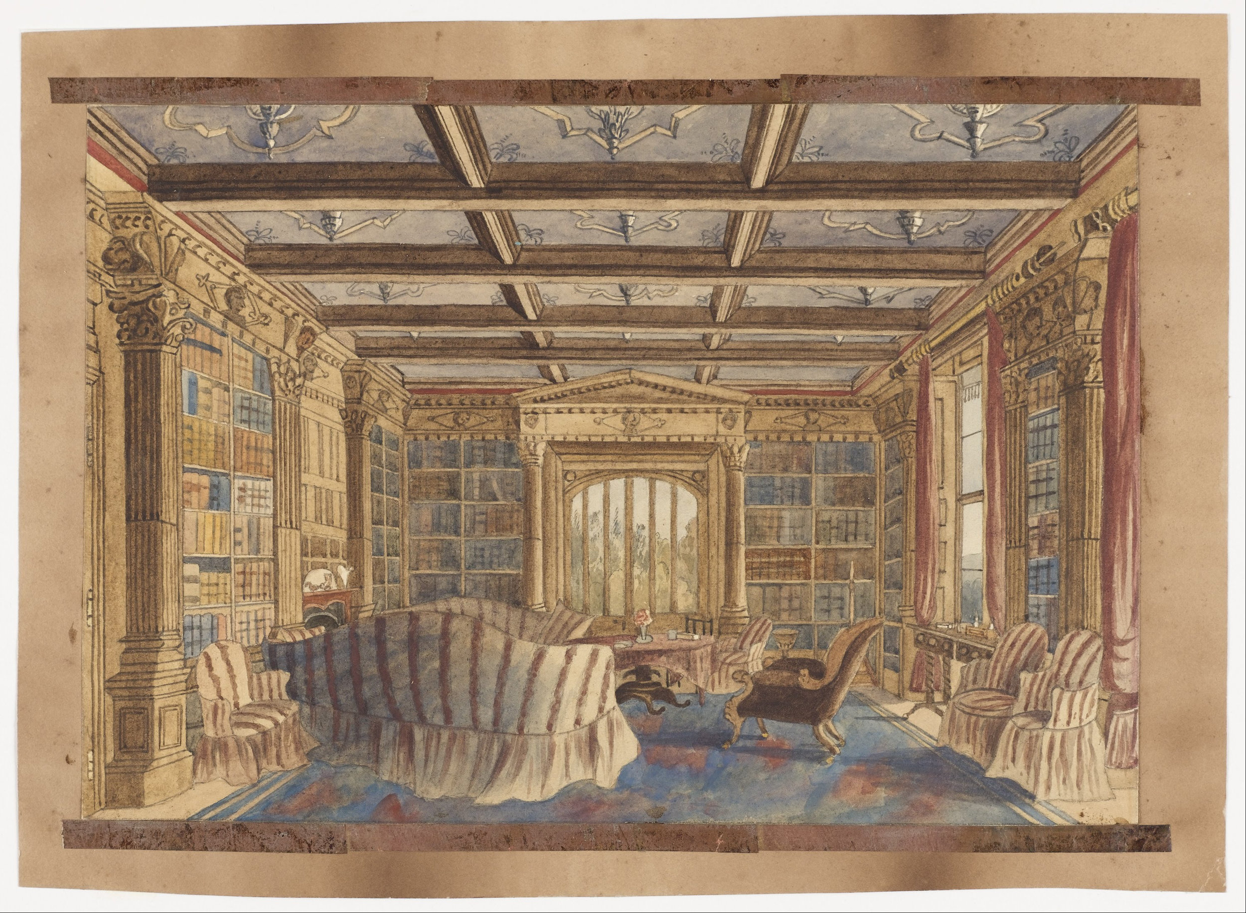 Charlotte_Bosanquet_-_The_Library_at_Dingestow_-_Google_Art_Project.jpg