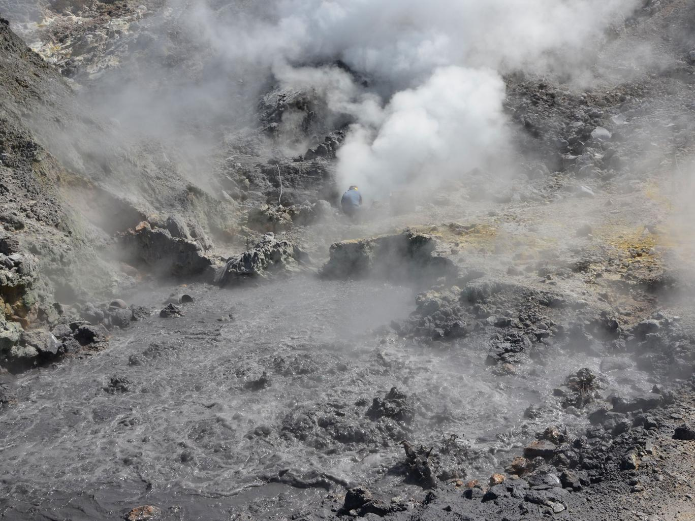 Pisciarelli fumaroles and mud pools from the Campi Flegrei caldera, near Naples/GETTY IMAGES