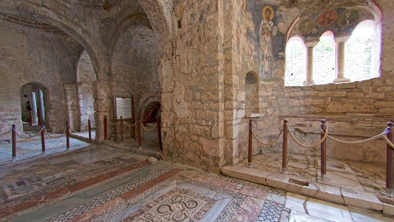 File photo shows the interior of St Nicholas Church in Demre, Turkey. Experts believe that the grave of St. Nicholas, the historical inspiration for Santa Claus, may be beneath the church.  (Kenan Olgun/iStock)