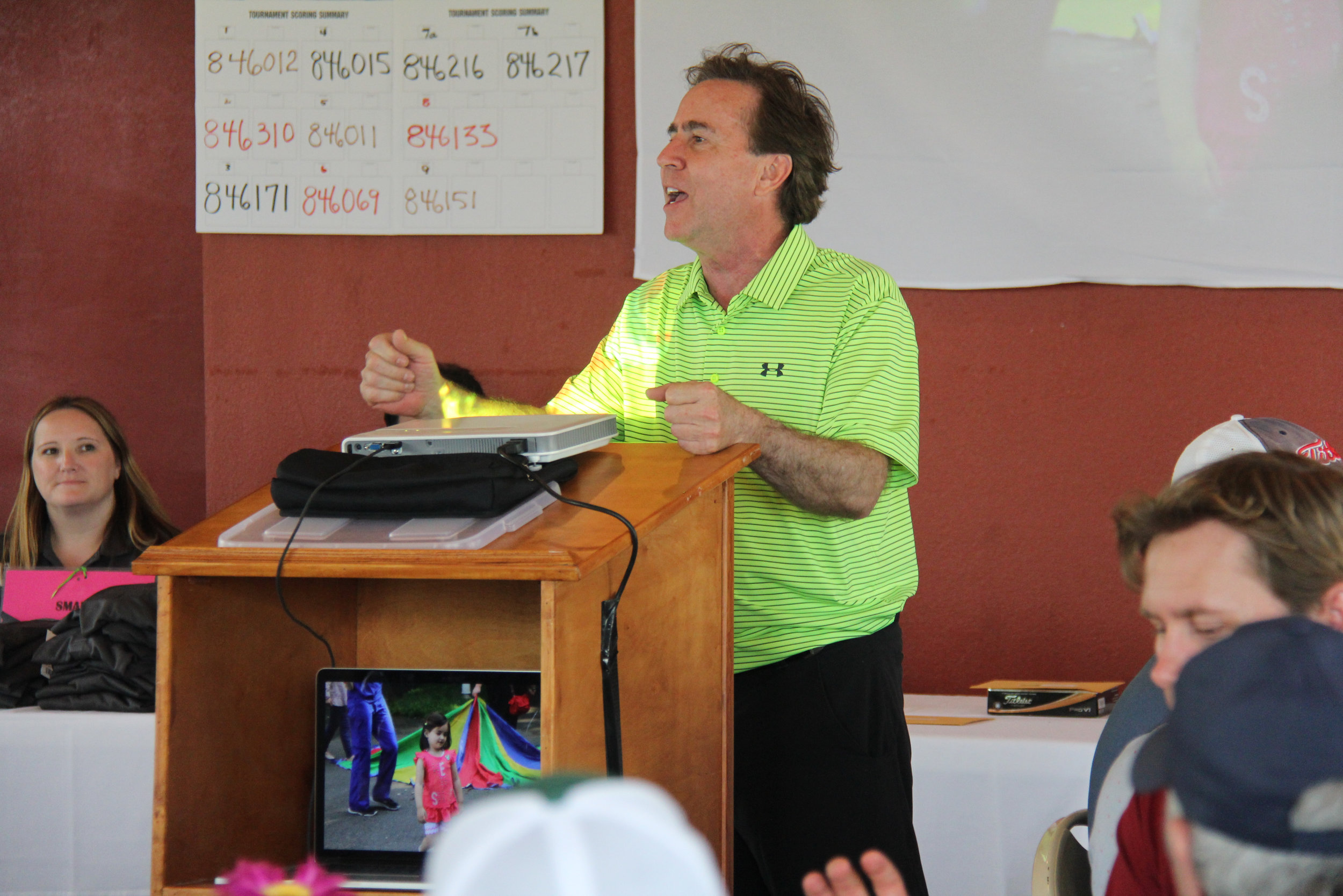 Dr. Kevin Seidler sharing an update on ServingHIM and the construction of our Guatemala Clinic.