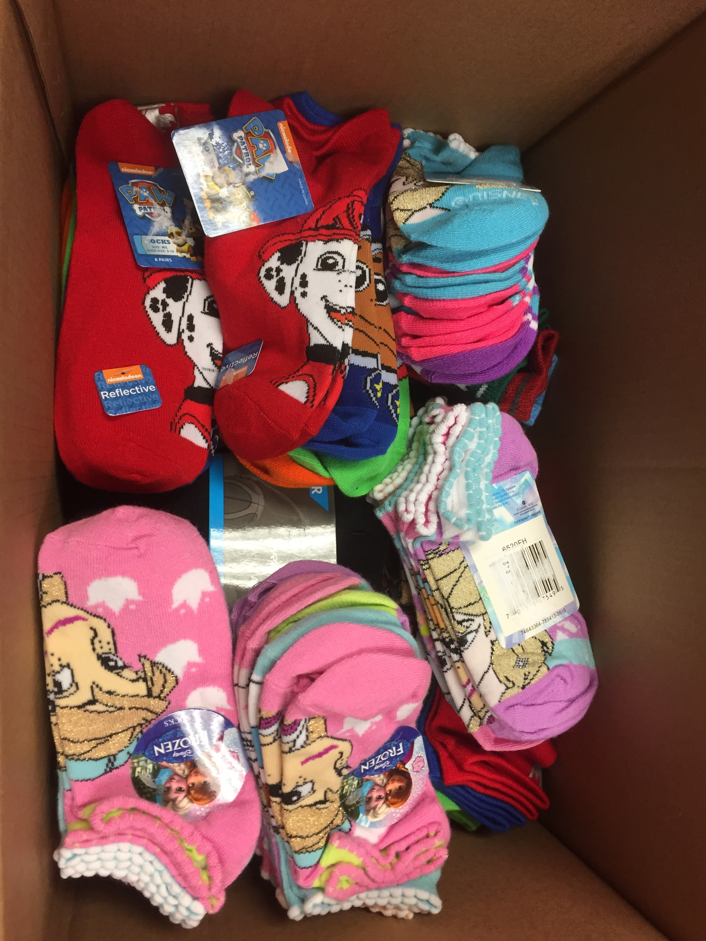 Sock donation from Skyline HS Pleasant Grove.JPG