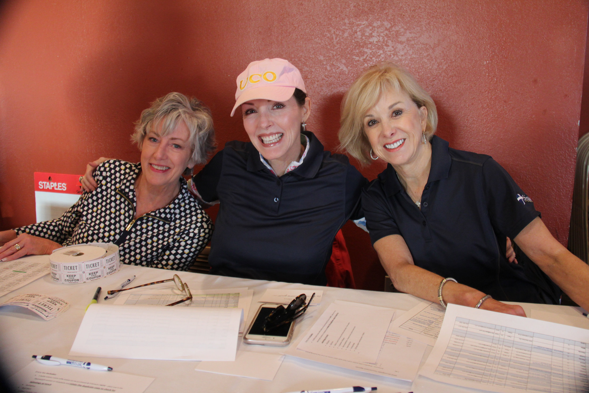 2018 Serving HIM  Golf Tournament Check-In Table Volunteers - Marti Wise, Vicki Ford, Joyce Jordan