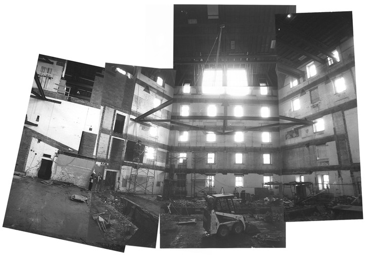 Tjaden Hall under construction