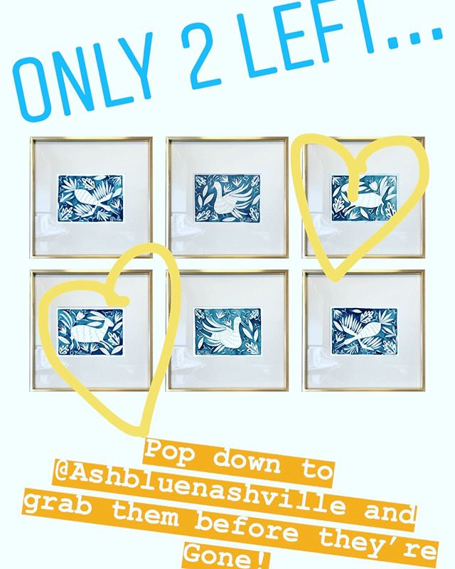 Available TODAY...ONLY 2 left! Hop over to @ashbluenashville and grab them before they are gone! 🤩💙🤩 #nashvilleartistcollective #mothersdaypresent #katherinemillerart  #otomiwatercolor