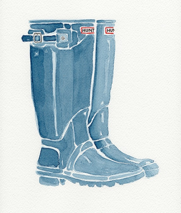 Spring in Nashville. Forecast: RAIN! 🌧 Get those boots out, ya'll!!! 💙💙💙 #hunter boots #katherinemillerart