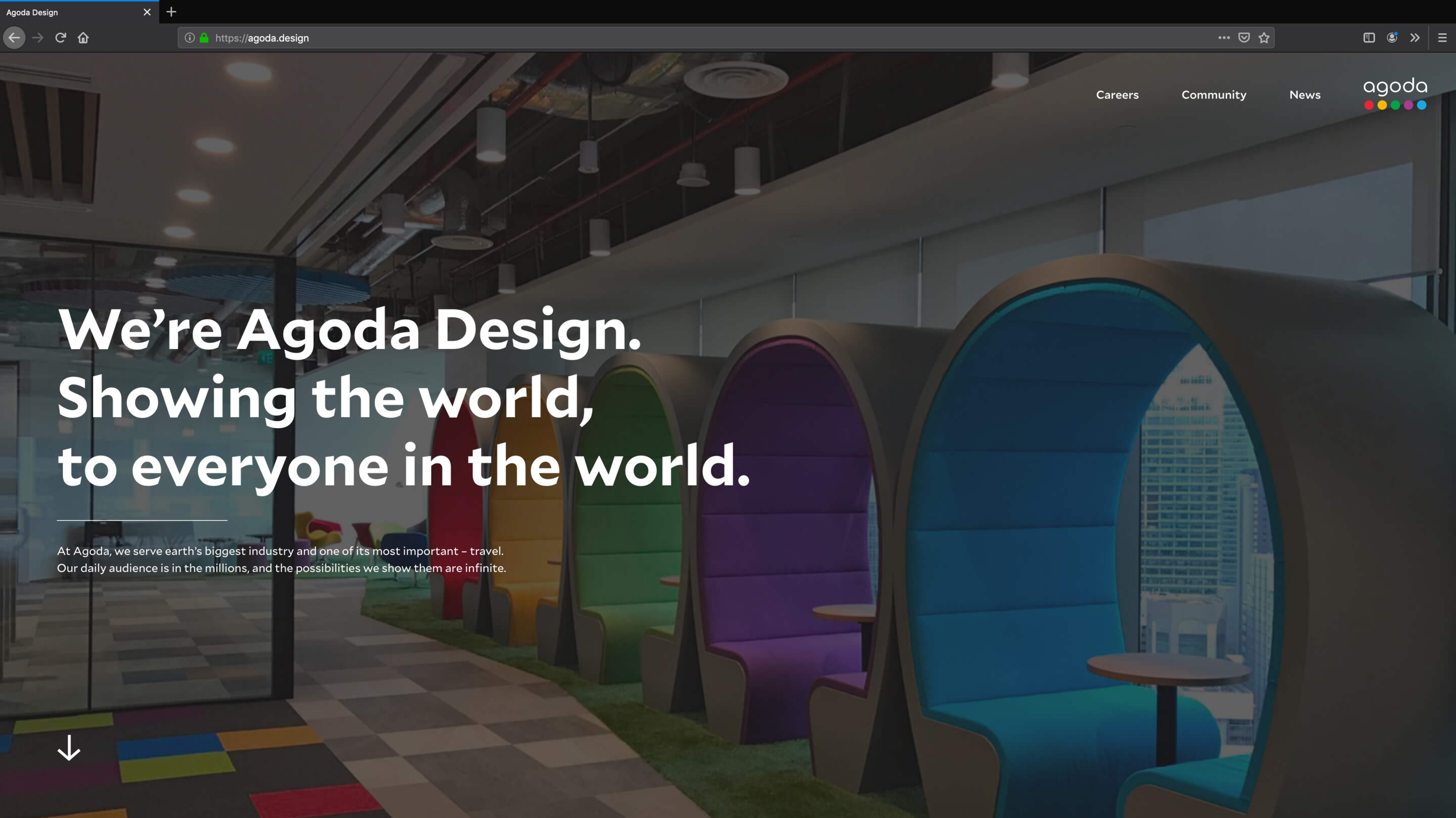 The site moved from agodadesign.com to agoda.design and was already full of content and engaging from the start.
