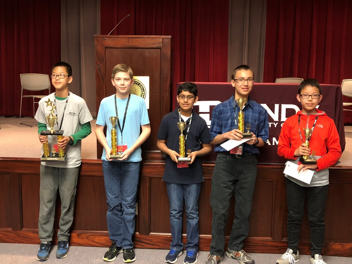 7th Grade Winners - 1st, Leo Mei, Madison Middle School2nd, Joshua Bowman, Northwest Rankin Middle School3rd, Architesh Prasad, Tupelo Middle School4th, Ryan Goodwin, East Central Middle School5th, Kenny Suzuki, Madison Middle School