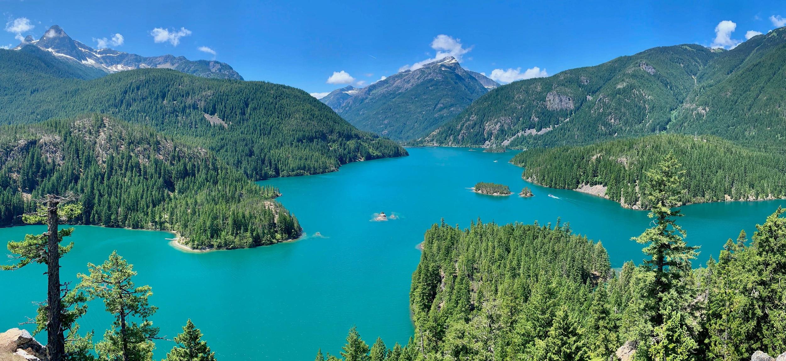 Steph Pyles, Ross Lake, North Cascades, WA