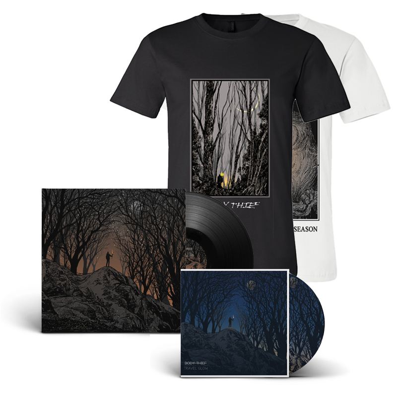 Travel Glow Vinyl, CD,              Tee Bundle                 $55.00