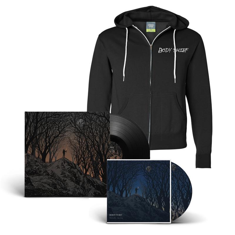 Travel Glow CD, Vinyl, and Zip Up Bundle                      $75.00