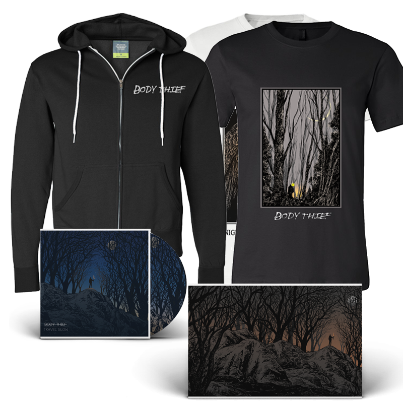 Body Thief : Travel Glow CD, Tee, Poster  and zip hoodie                       $65.00
