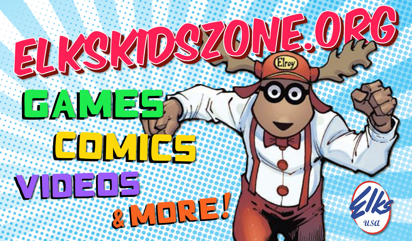 Elks Kid Zone - Elroy the Elk's official drug awareness site where kids can download Marvel comics and coloring books for free!