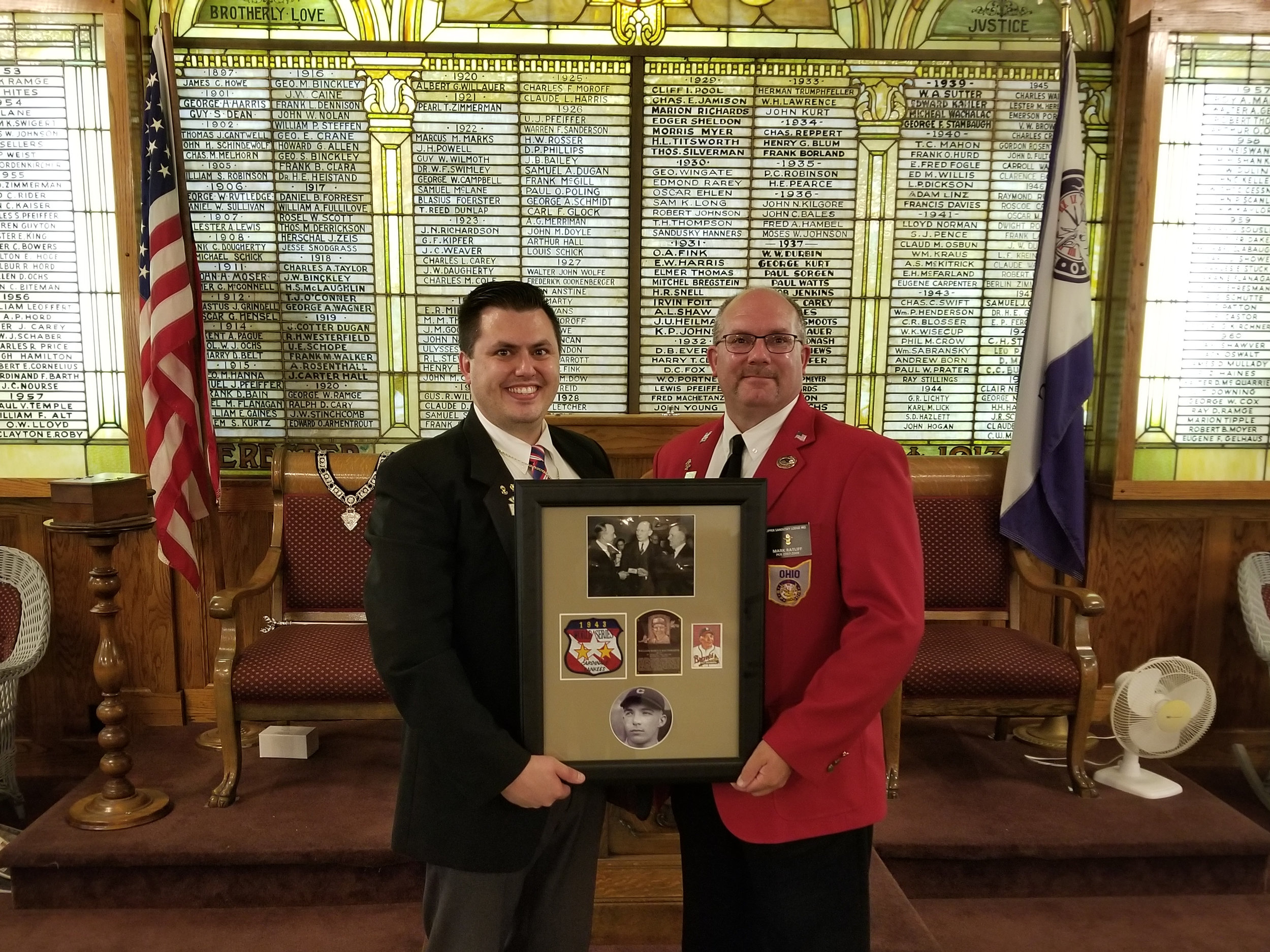 Left: Current Kenton Exalted Ruler Todd Daquino Right: First Vice President Mark Ratliff