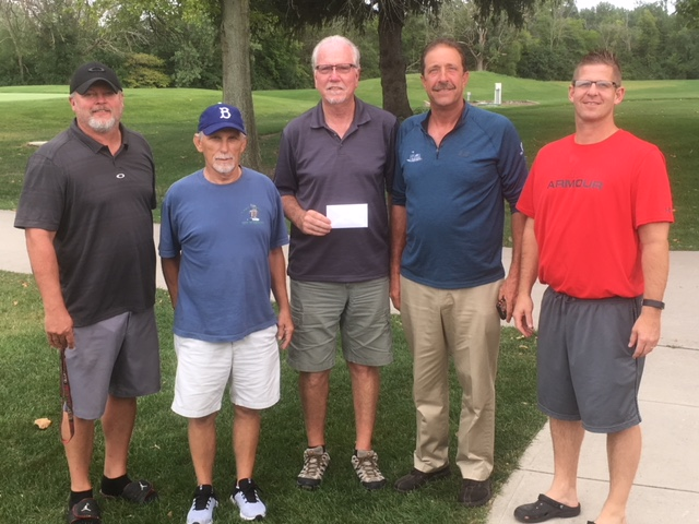 Pictured left to right are golf committee members Chad Adams, Jim Boroff and Gary Dunno; Hugh Kocab from the YMCA/Hickory Sticks Golf Club and committee member Shad Foster.
