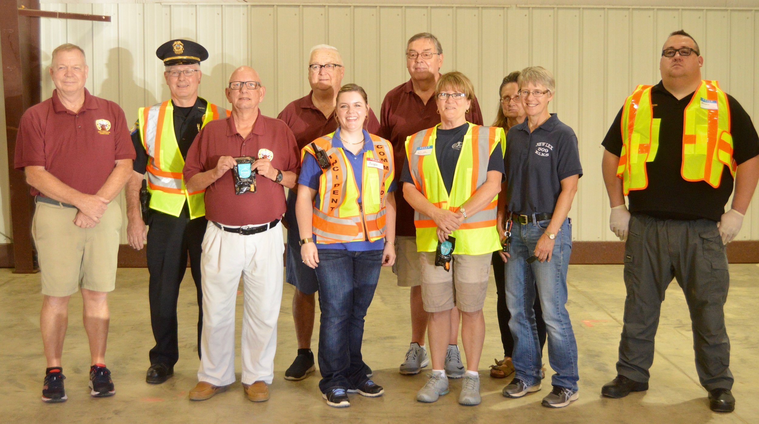 Officers and Trustees of New Lexington Lodge #509 present were Phil Wollenberg PER,Lodge Esquire and Grant Committee Chairperson, Trustee Jim Leckrone, Grant writer Trustee Mike Sherlock, Ruth Liff-Gray, Esteemed Leading Knight,RSVP director, Sheri Howydshell, Lodge manager and Mark Shoemaker, Lodge Tiler.