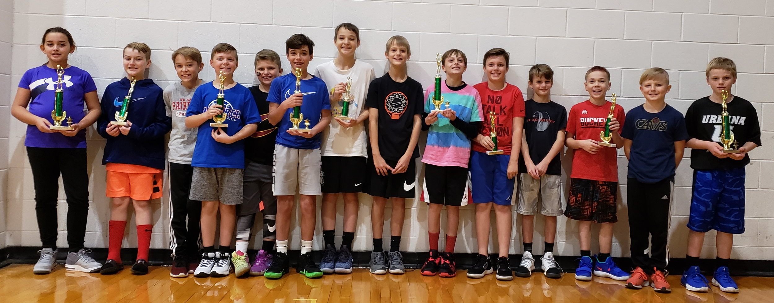 Shown in the picture are the winners and participants. The winners were: Boys 8-9 years old division - Dominick Dials, 10-11 division - Drew Hughes, 12-13 division - Merrick Reynolds. Girls 10-11 division Kylie Levings. The other participants are: A.J. Gratz, Drew Chaffin, Kiefer Brock, Alex Orders, Braden Bates, Brady Carper, Dawson Taylor, Caden Canfield, Carson Taylor, Clark Aden.