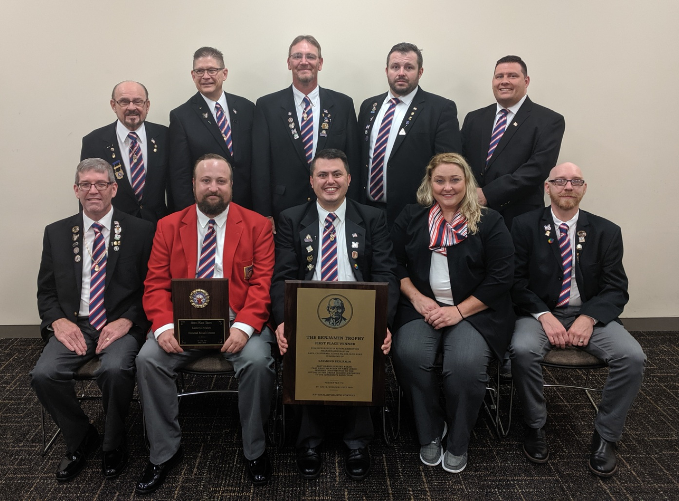 The Kenton Elks Lodge #157 National Champion Ritual Team and their coaches