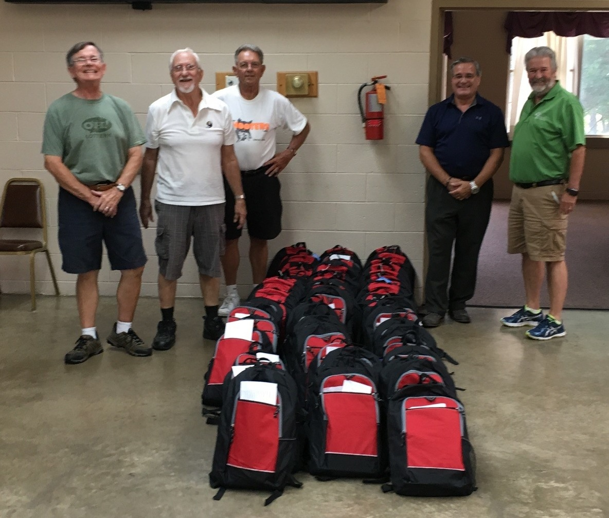Pictured from left: Athens Elks Jim Balding, Joe Vassallo, Tim Lairson, Glen Hanson and with SE Ohio Youth Mentoring Jim Salzman.