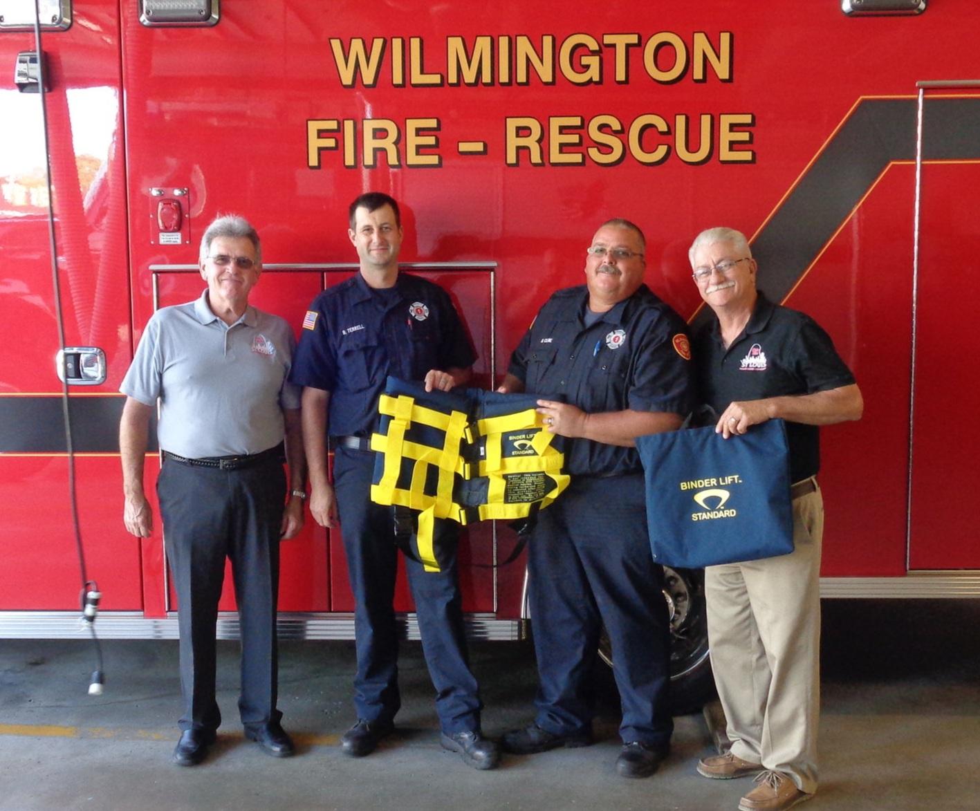 Pictured from left: ER, Dave Appleman, EMT Terrell, EMT Cline, and PER, Dan Williams.