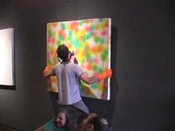 Fear and Apathy by Joe Daun - Paintball Instillation -