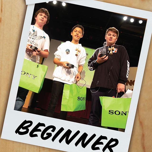 BEGINNER 🥇Jayden Kennedy Minarcik 🥈Micah Qiang Paquin 🥉Reese Peterson • Shoutout to the 46 players who competed in Beginners this year, and the judges who helped make it happen. Swipe over to see most of the finalists who made it to Day 3 • We always want to see the Beginner comp grow, and we can't wait to see the skill these players hit next year! • #NAKO2019 #NorthAmericanKendamaOpen #Beginner #Finals If you are in one of the pics, let us know so we can tag you!