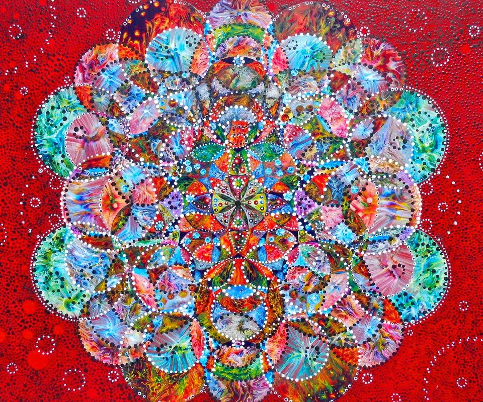 "9.) Kristen Carleton, ""Lotus 5"", 2013, 48.5cm x 55cm, Acrylic on Polymer.jpg"