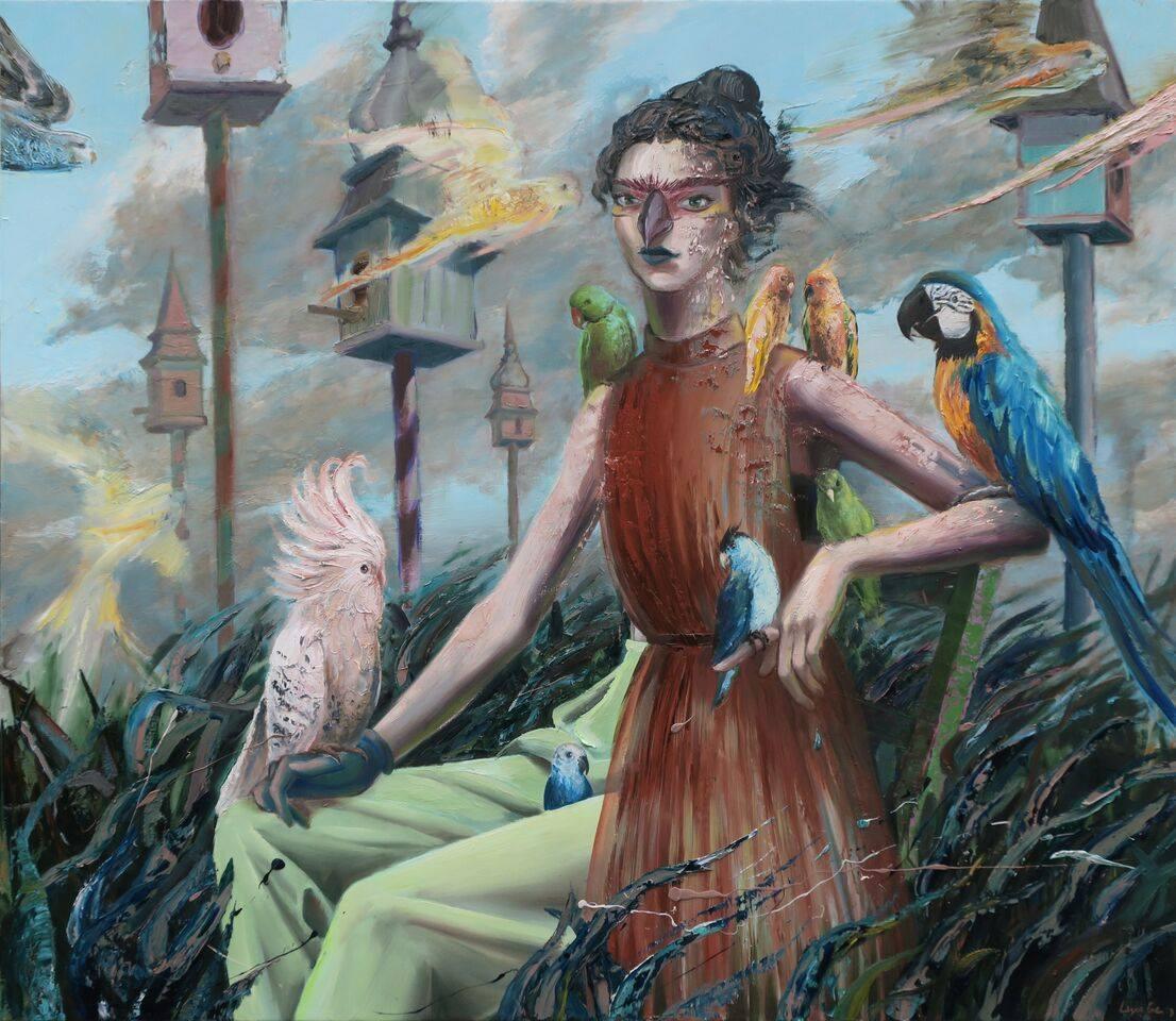 Papagena,  Huile sur toile, 2018, 130 x 150 cm
