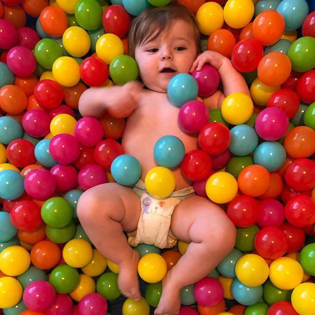 Ball pit party! #ballstothewall #forcedfamilyfun