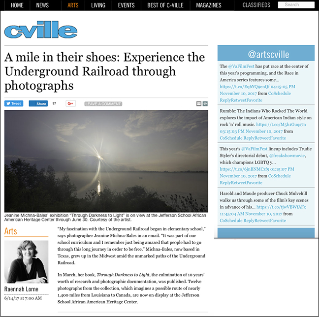 C-VILLE WEEKLY   by Raennah Lorne June 14, 2017