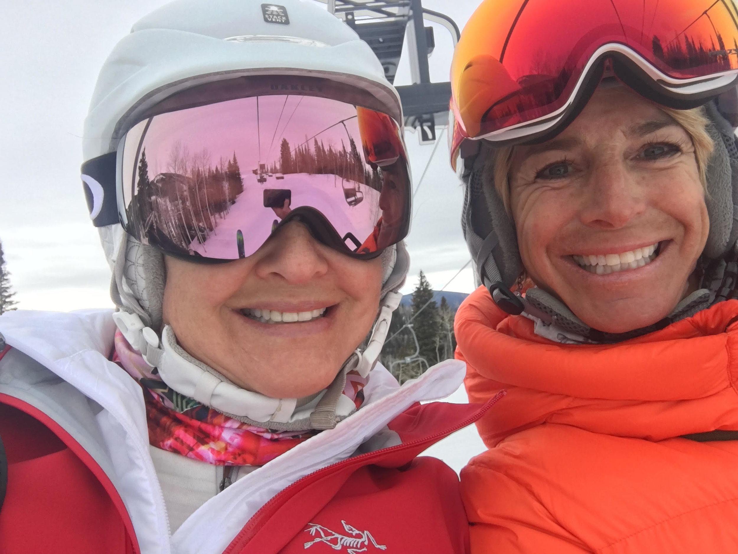 Brenda and Kim in Steamboat, March 2018