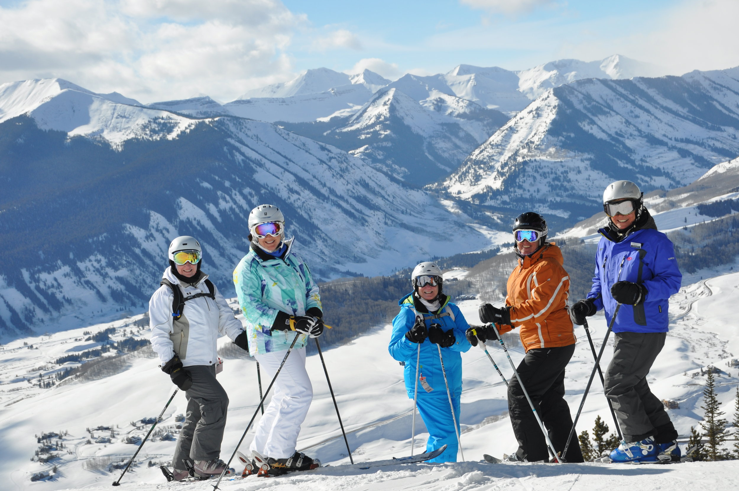 Janet and friends in Crested Butte, CO