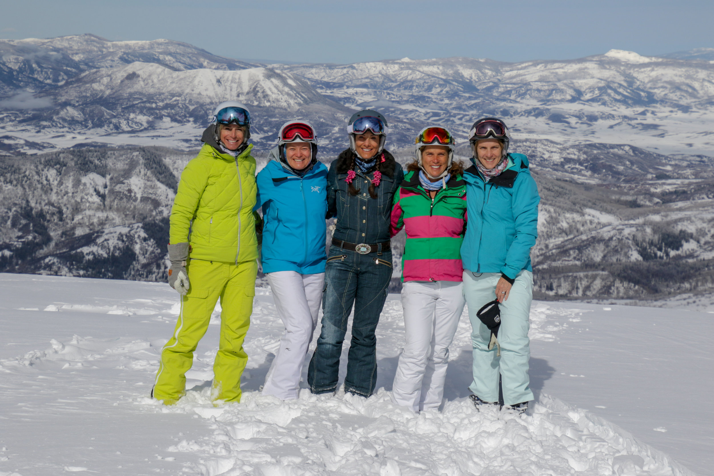 Lisa and friends celebrating her 60th B-day in Steamboat.