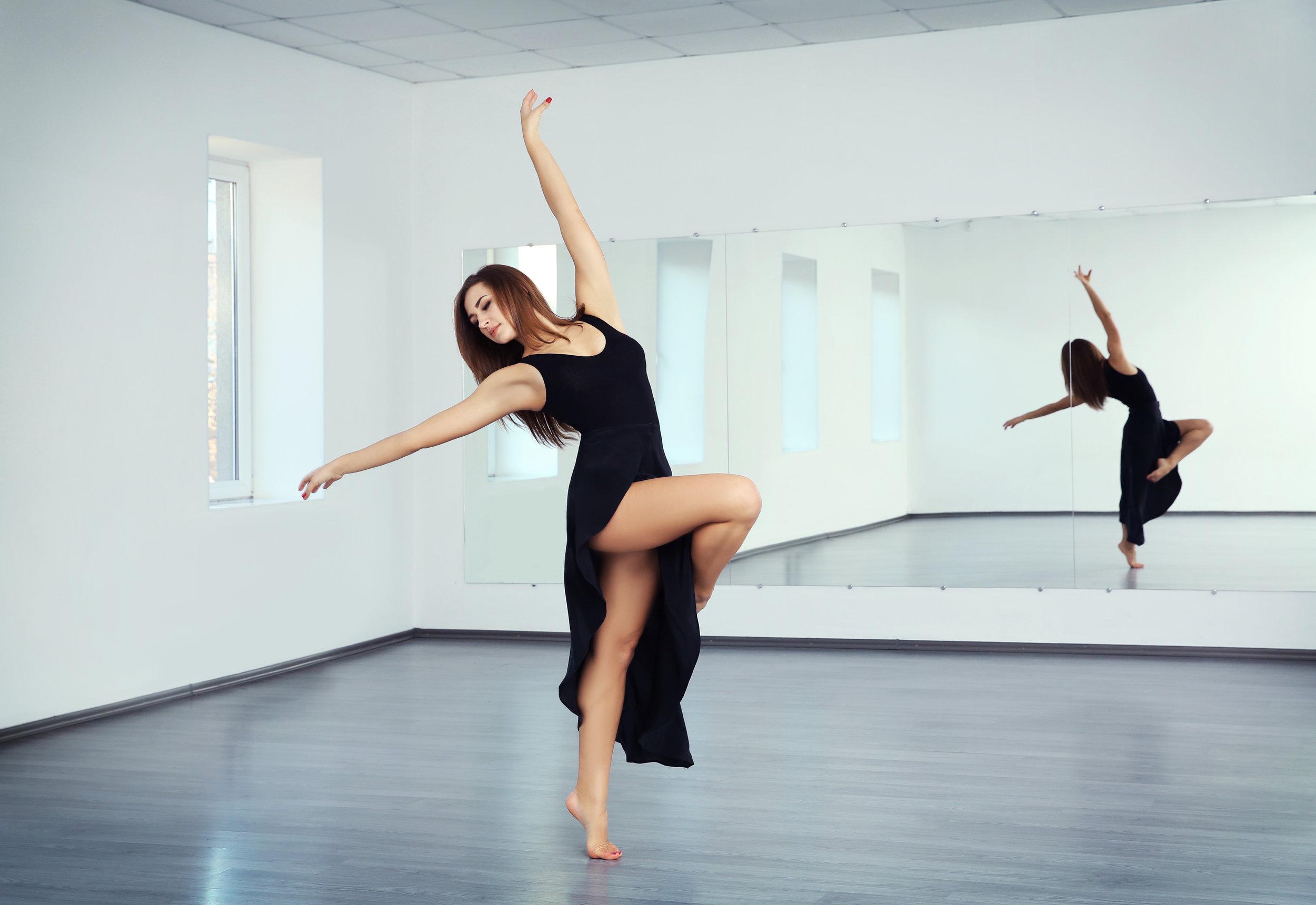 dance studio wall mirror