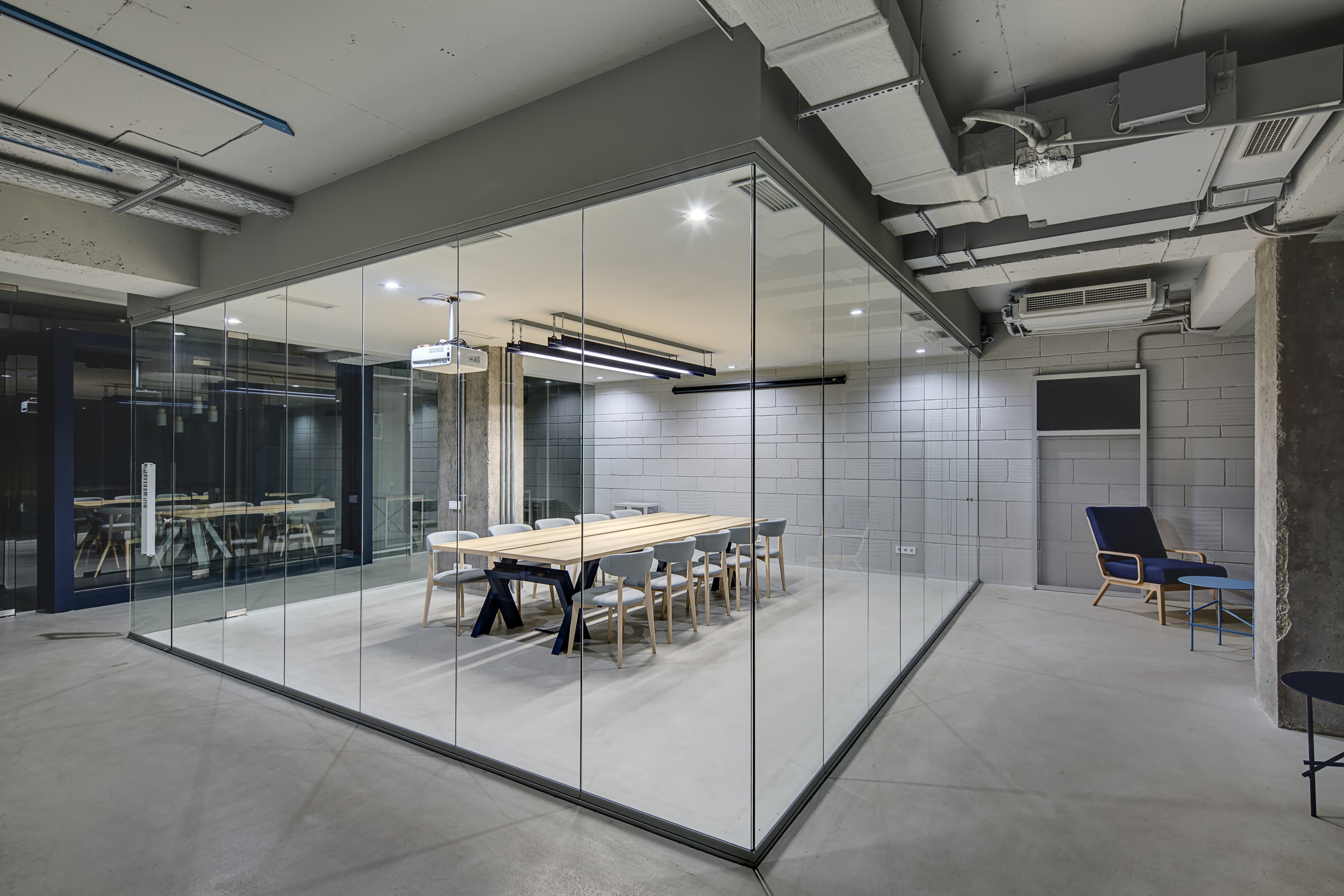 glass wall office divider