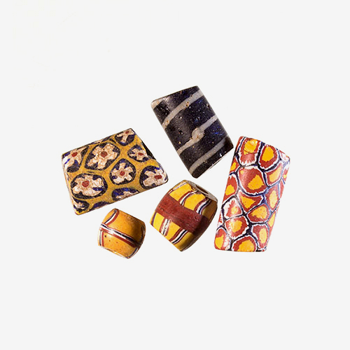 African Antique Venetian   Material: Glass   These Venetian beads have delicate designs and were used in the African trade.