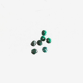 Emerald Stones   Material: Natural Stone   Emeralds are natural green stones that are said to encourage clear vision, healing and love. These beads are emerald faceted rondelles.