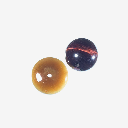 Tiger's Eye   Material: Natural Stone   Tiger's eye beads are made from metamorphic rock in gold to red-brown colors. Tiger's eye is said to provide vision and insight, bringing luck and protection to its owner.