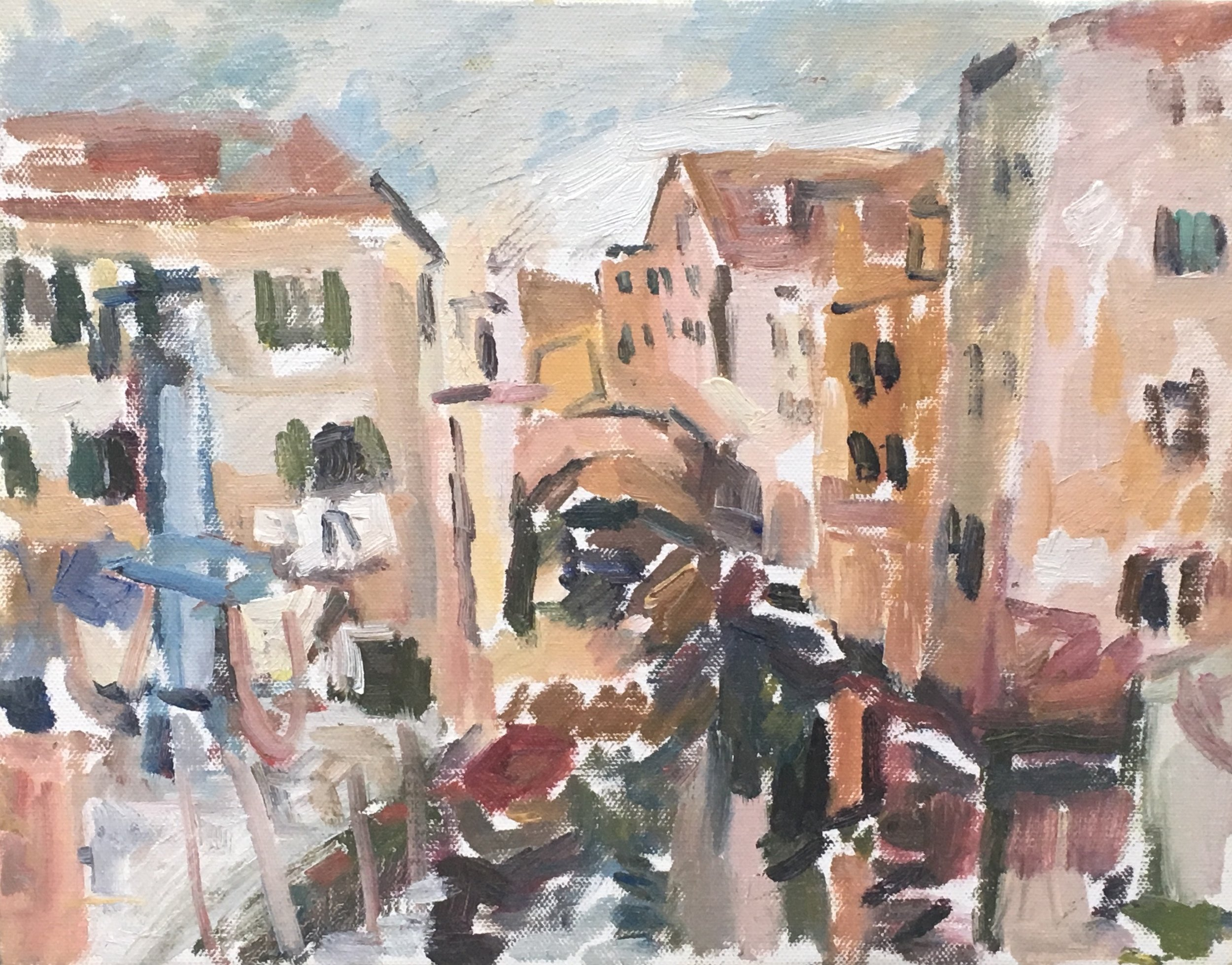 "Venezia Canal,  oil on canvas, 11"" x 14"", 2018"
