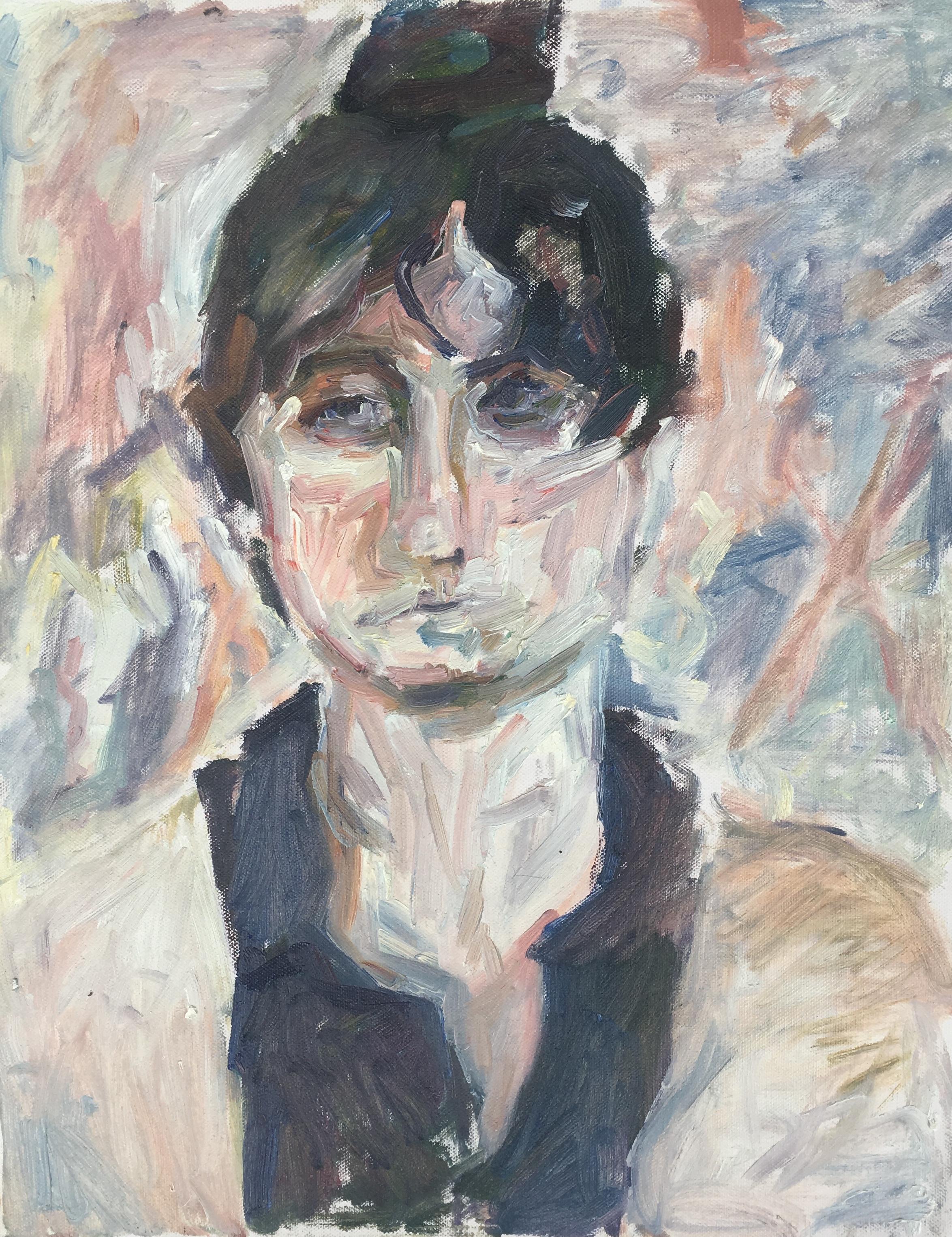 """Mary , oil on canvas, 20"""" x 16"""", 2018"""