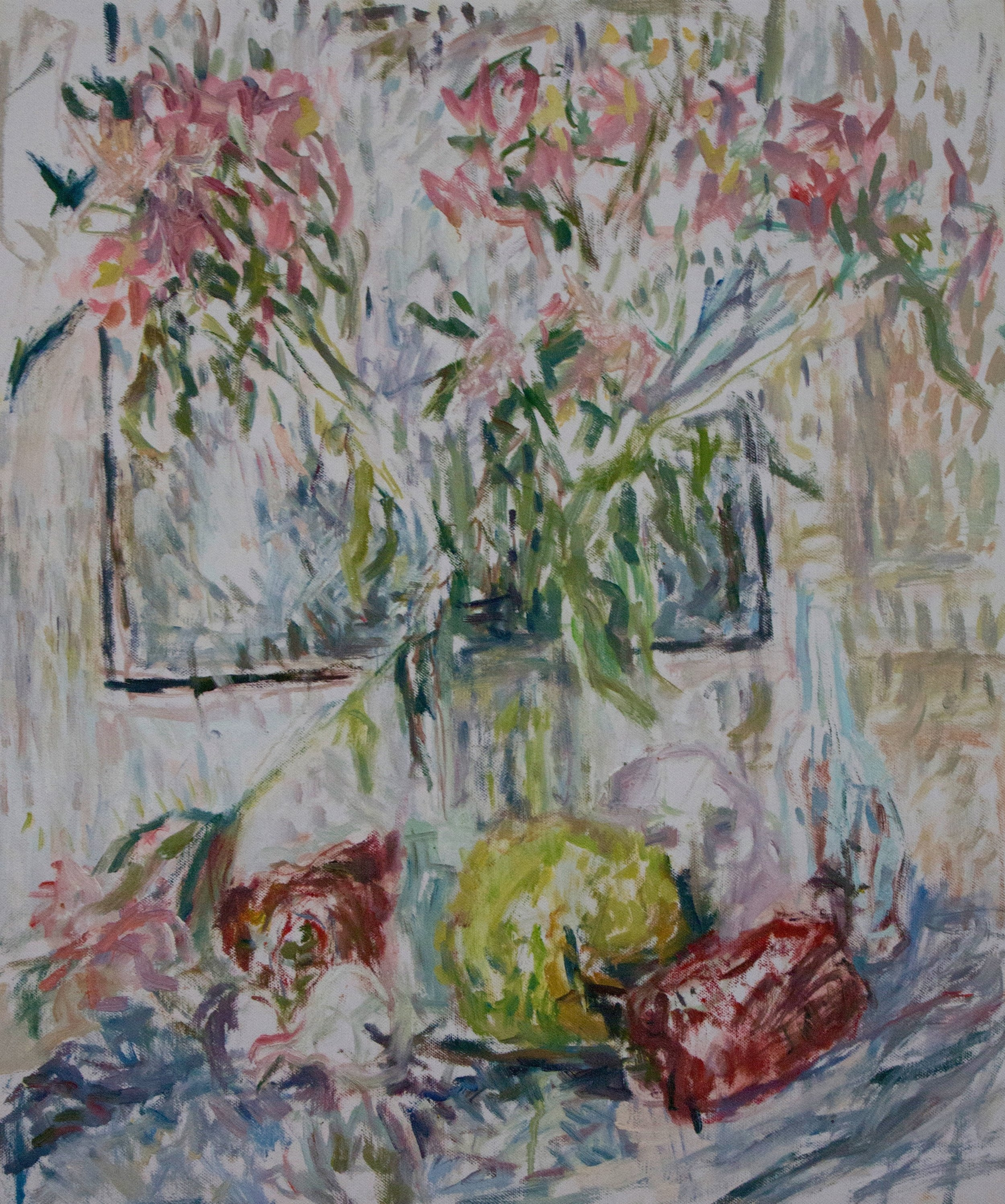 """Still-Life with Lilies , oil on canvas, 25.5"""" x 21"""", 2018"""