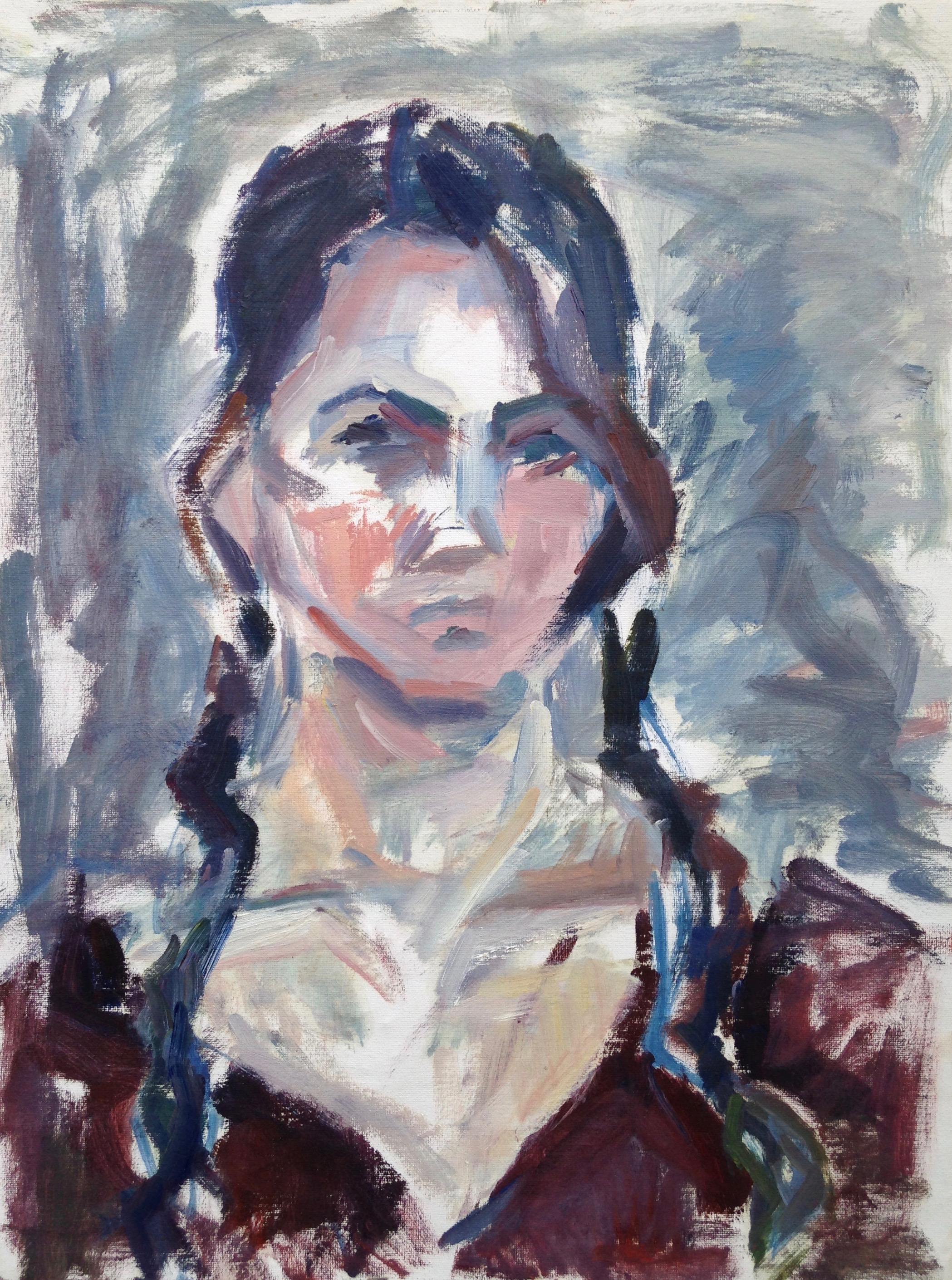 """Vanessa , oil on canvas, 23"""" x 17"""", 2017"""