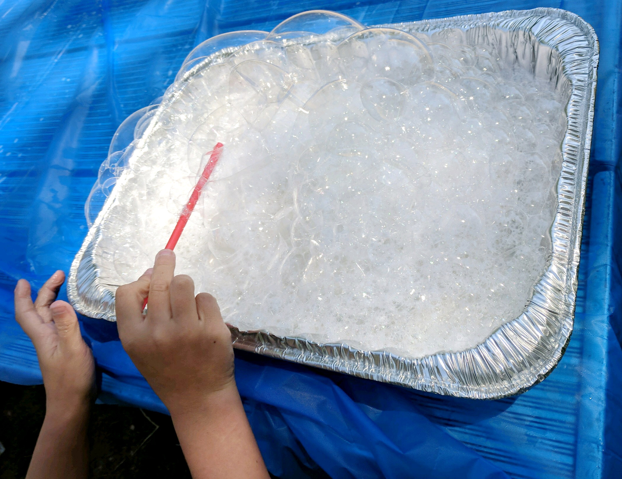 Bubble Explorer offered good, clean fun at the kiddie park August 21. ( Francie Winters photo )
