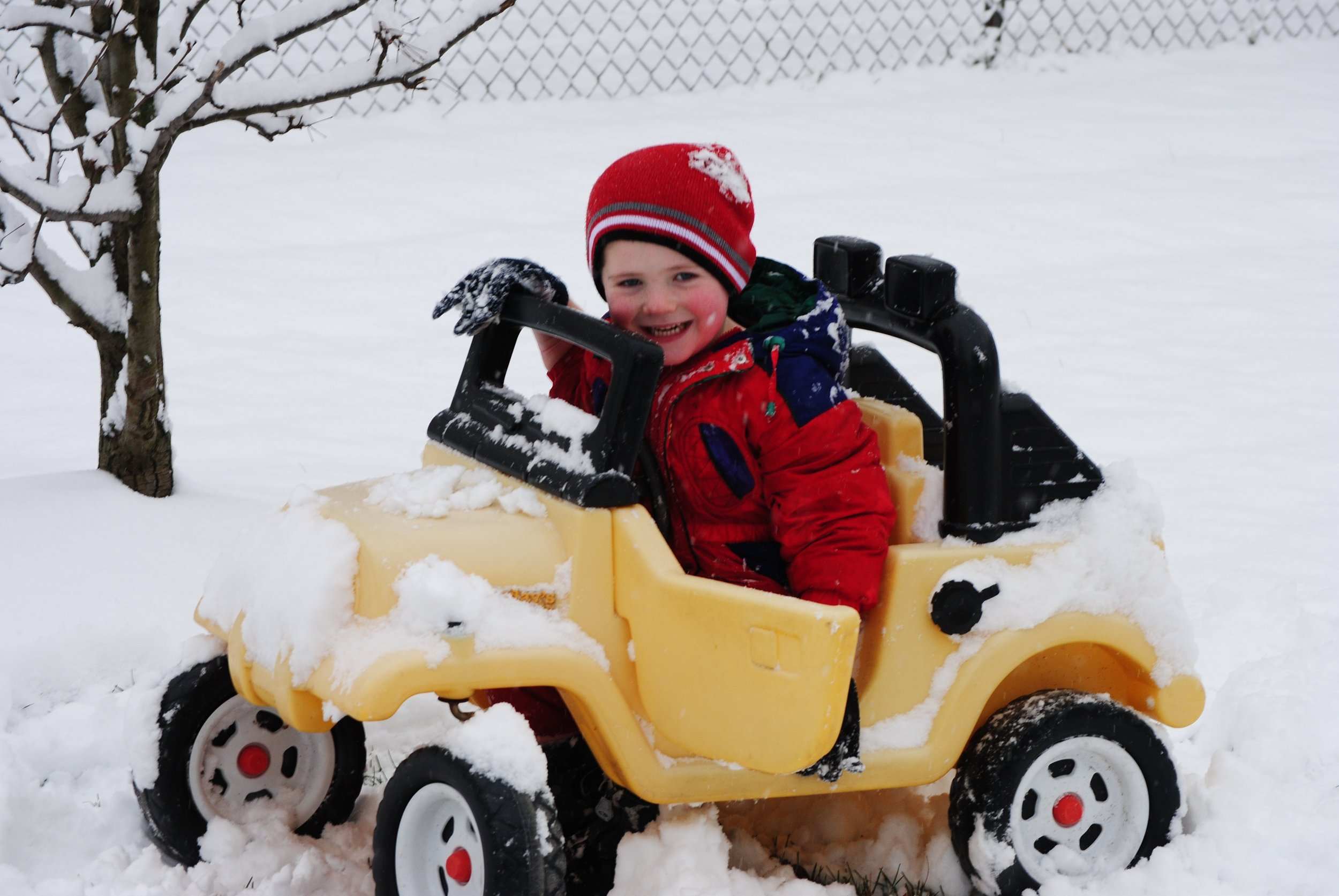 Make sure to clear the snow off your vehicle before you venture out. You want to be able to see and, just as importantly, you want other drivers to see you.