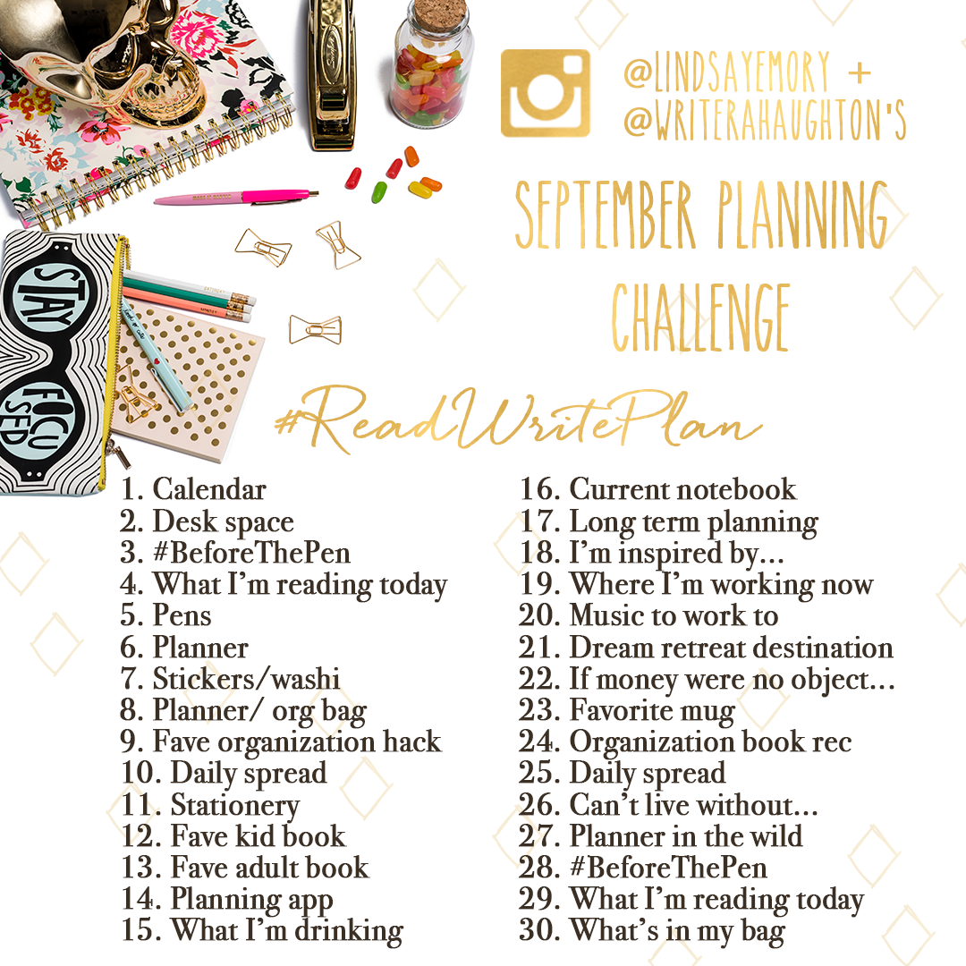 The September Instagram Challenge Every Planner, Reader and Writer Needs to Join.