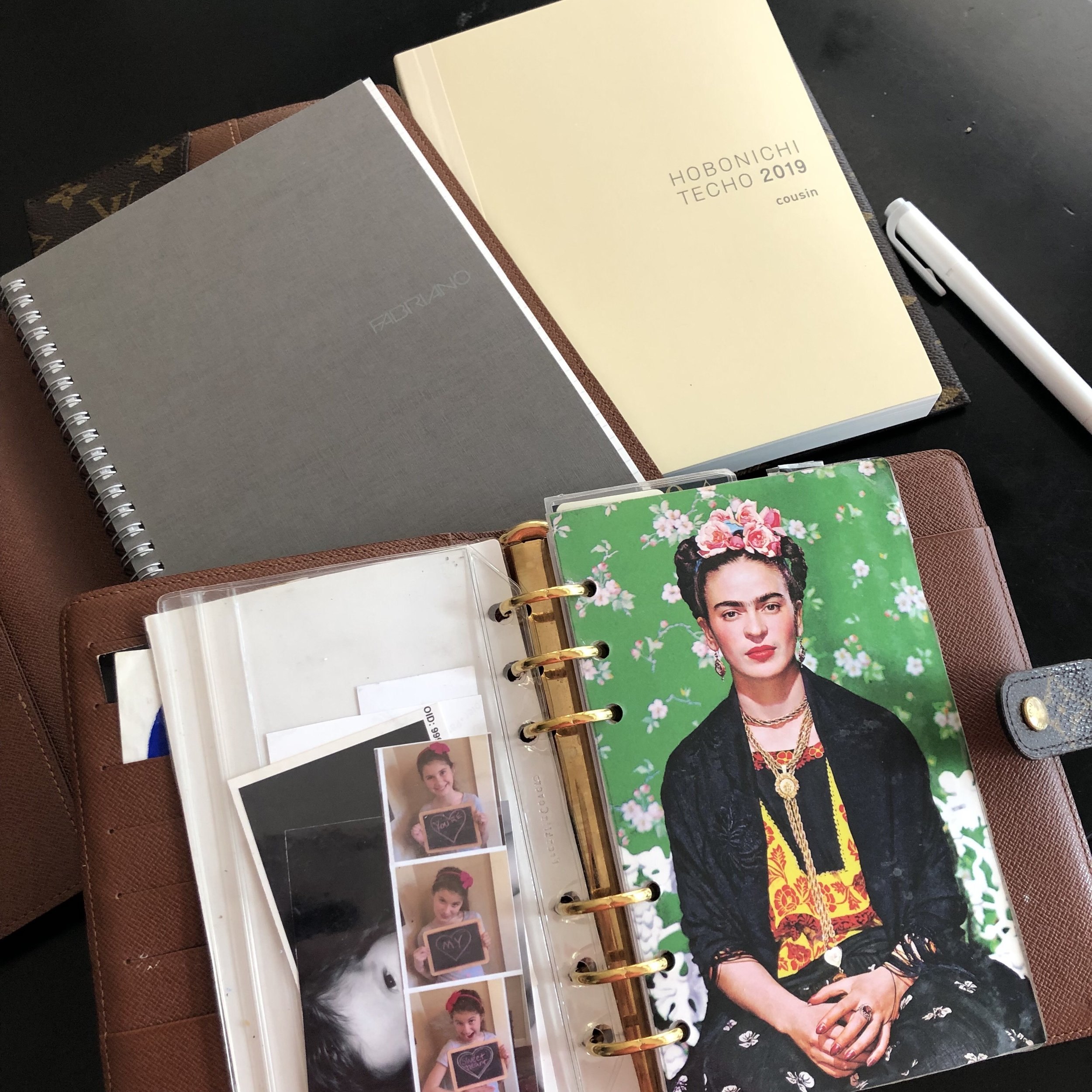 My loves and inspiration: Hobonichi, Louis Vuitton and Frida Kahlo