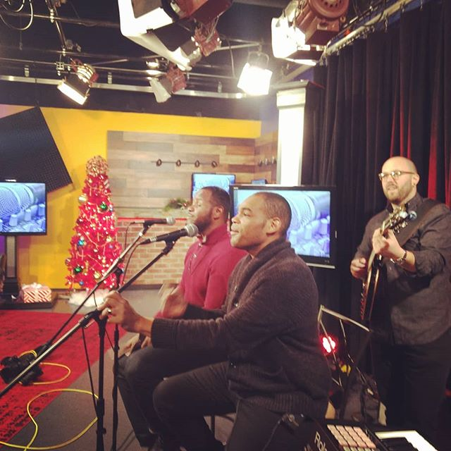 #we had a #blast #playing #believe and #youcanmakeit on @fox2now #yesterday #morning #news #promote #christmas #show at @oldrockhousestl @petelombardo @drumsavage18 @phillip_hamer_photography @consciouskeys  #believe #dream #rise #ambition #fh #freshheir