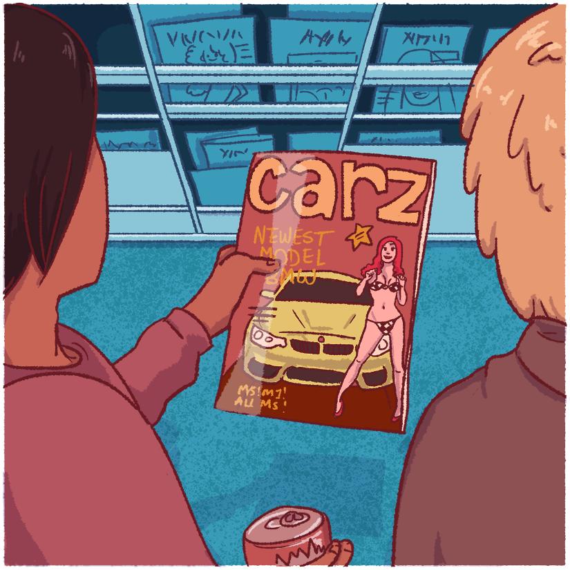 """""""I'm not really into cars,"""" I said.  Haha , I was so clever."""