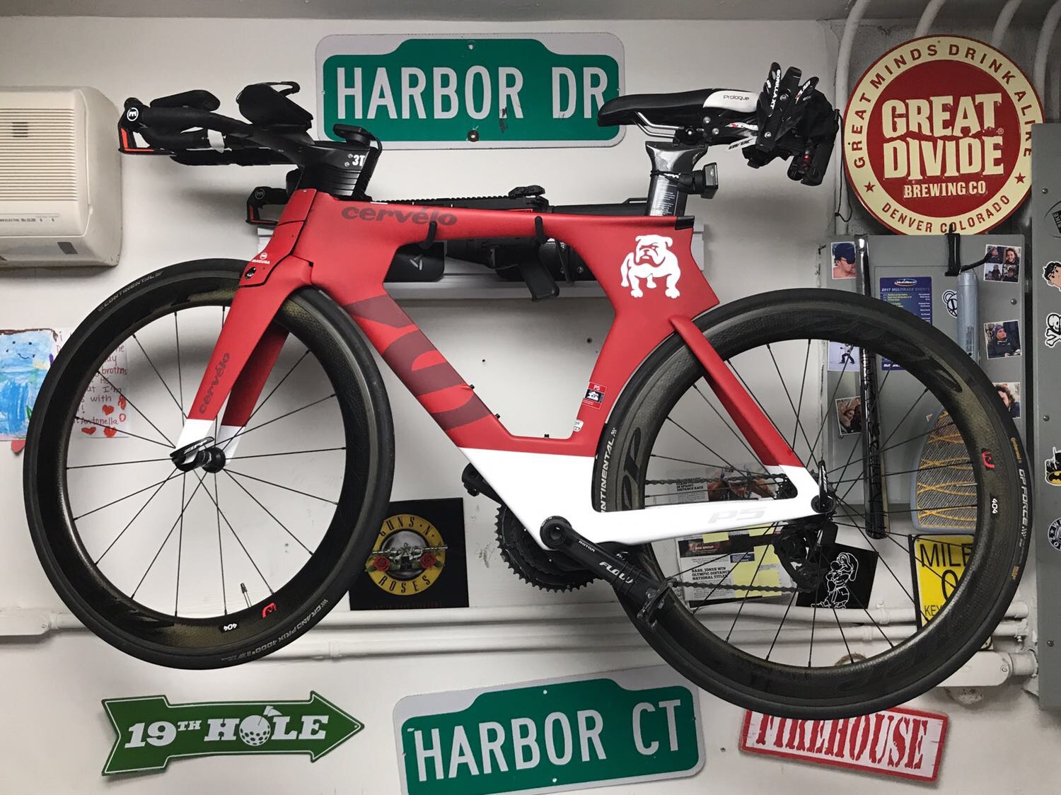 Cervelo P5 2016 with Sram Etap,  Look pedals, Garmin 1000, Zipp 404 Wheelset  $5000